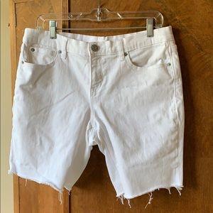 Gap cut off white denim cutoff jorts jean shorts